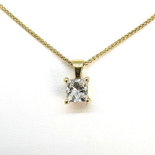 Princess cut diamond pendant 1.0cts H VS1