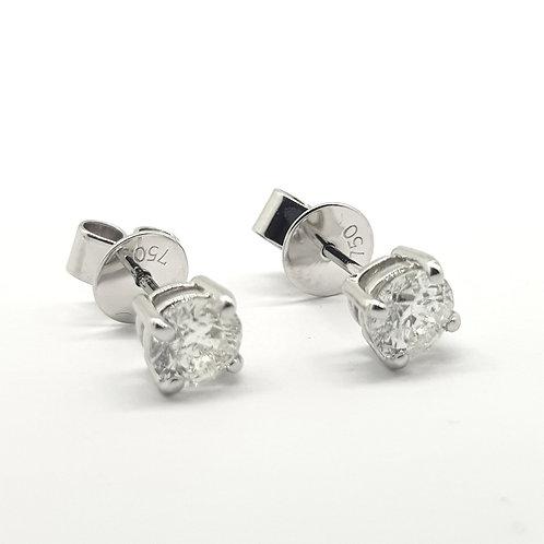 18Ct diamond studs D1.10Cts G/H  SI