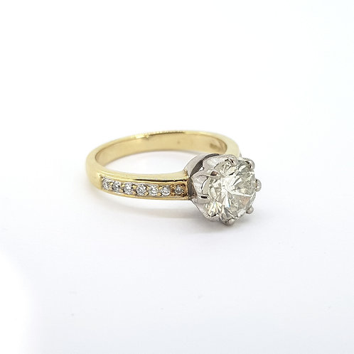 Solitaire diamond ring D1.71Cts J col Si1