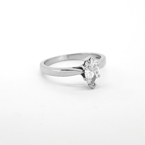 Marqee diamond ring