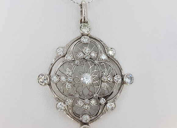 Art deco diamond pendant old cuts