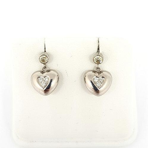 14ct Diamond drop earrings