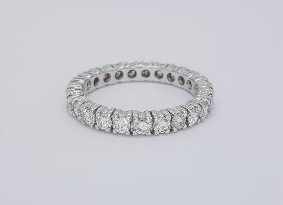Full diamond 18ct eternity band. D2.00cts