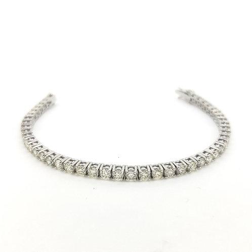 Diamond line bracelet 8.80cts