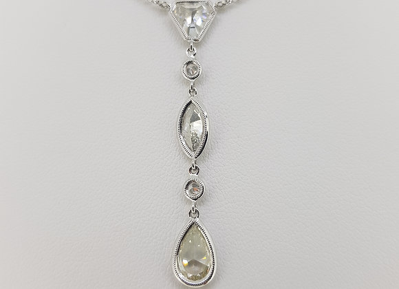 Triple diamond pendant td2.67cts