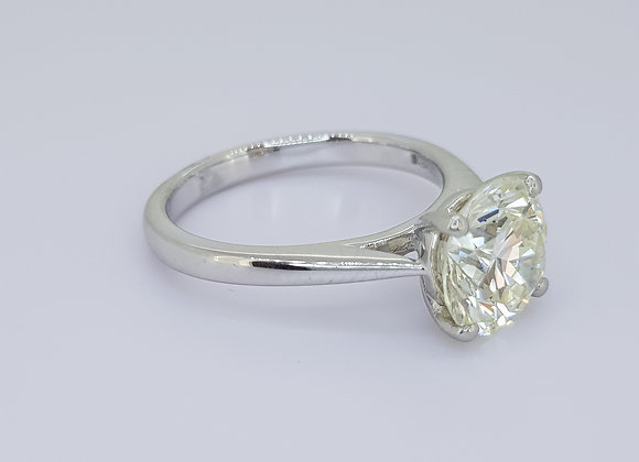 Solitaire diamond ring 2.75cts