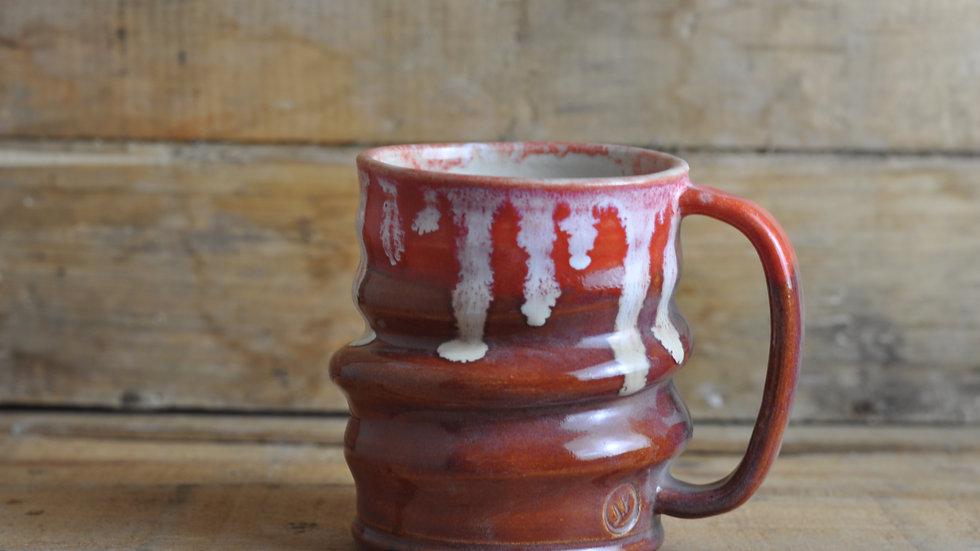 Small Red Spiral Mug