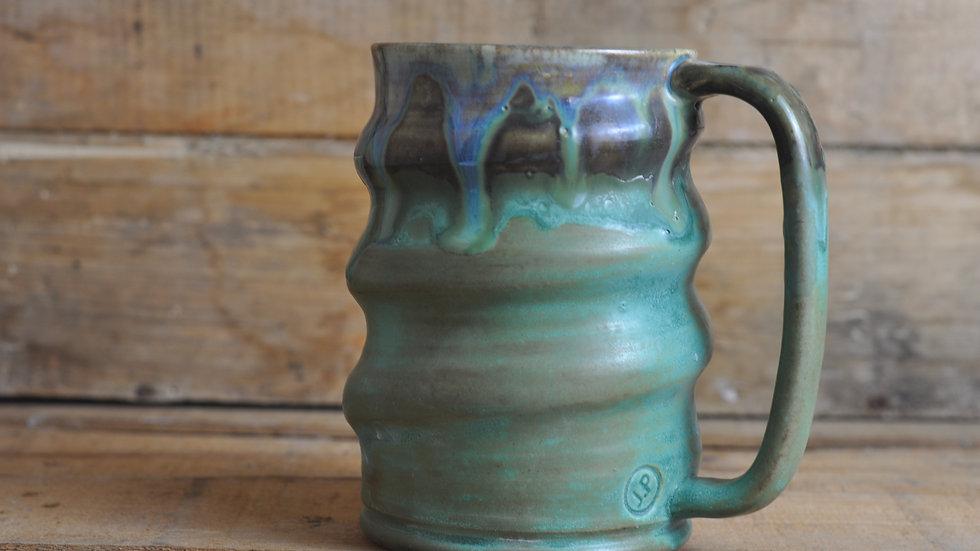 Patina Green Spiral Mug