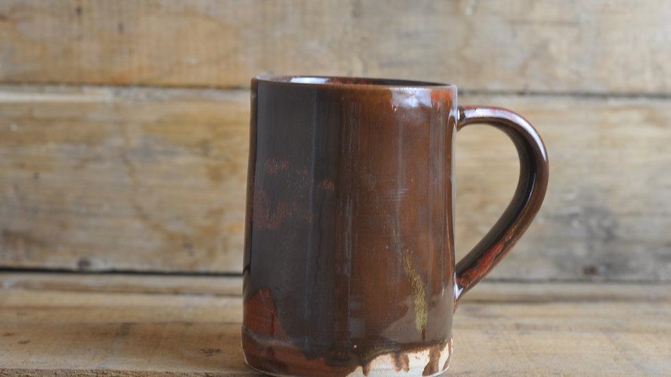Red 'Tenmoku' Mug