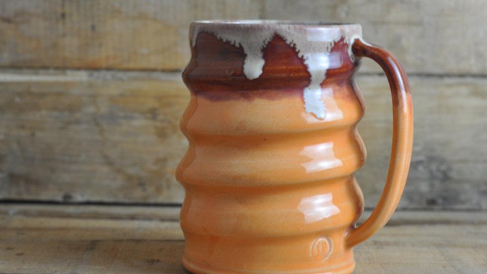 Large Orange Spiral Mug
