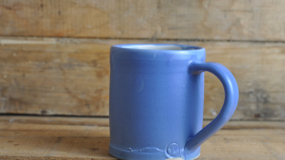 Soft Blue + White Mug