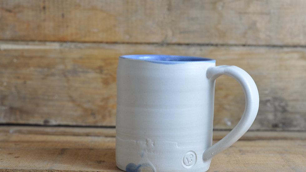 Soft White + Blue Mug