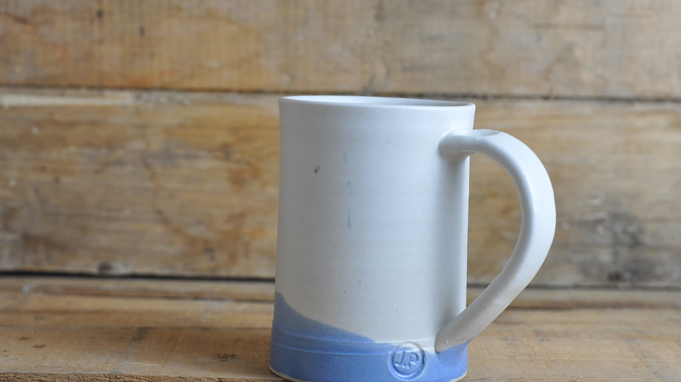 Soft White + Blue Mug