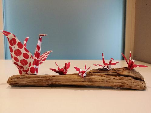 Origami sur bois, 2 gouttes d'eau à M'Bour