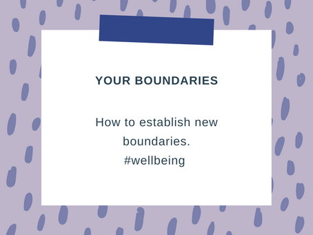 Establish your boundaries