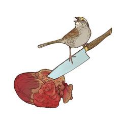 bird heart knife