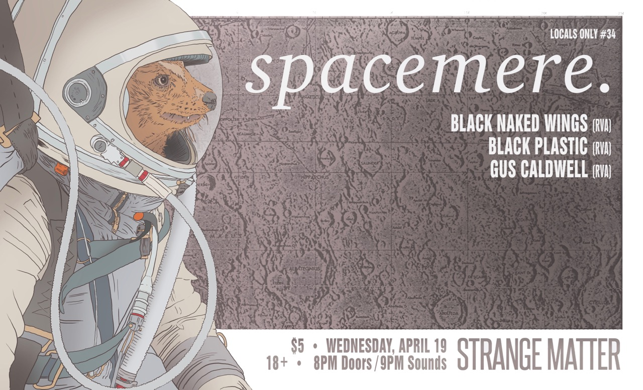 Spacemere show flyer