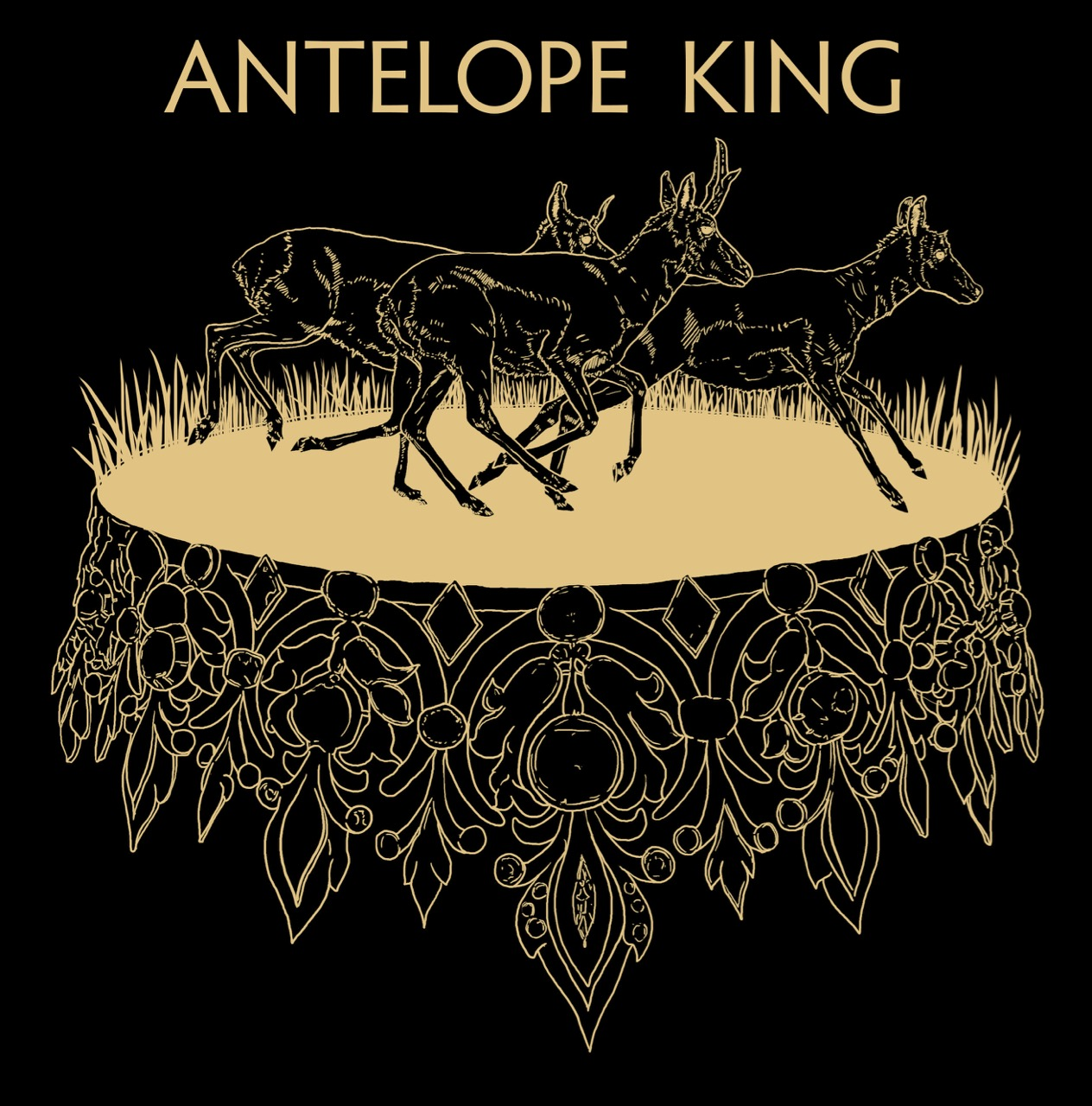 antelope king tshirt gold