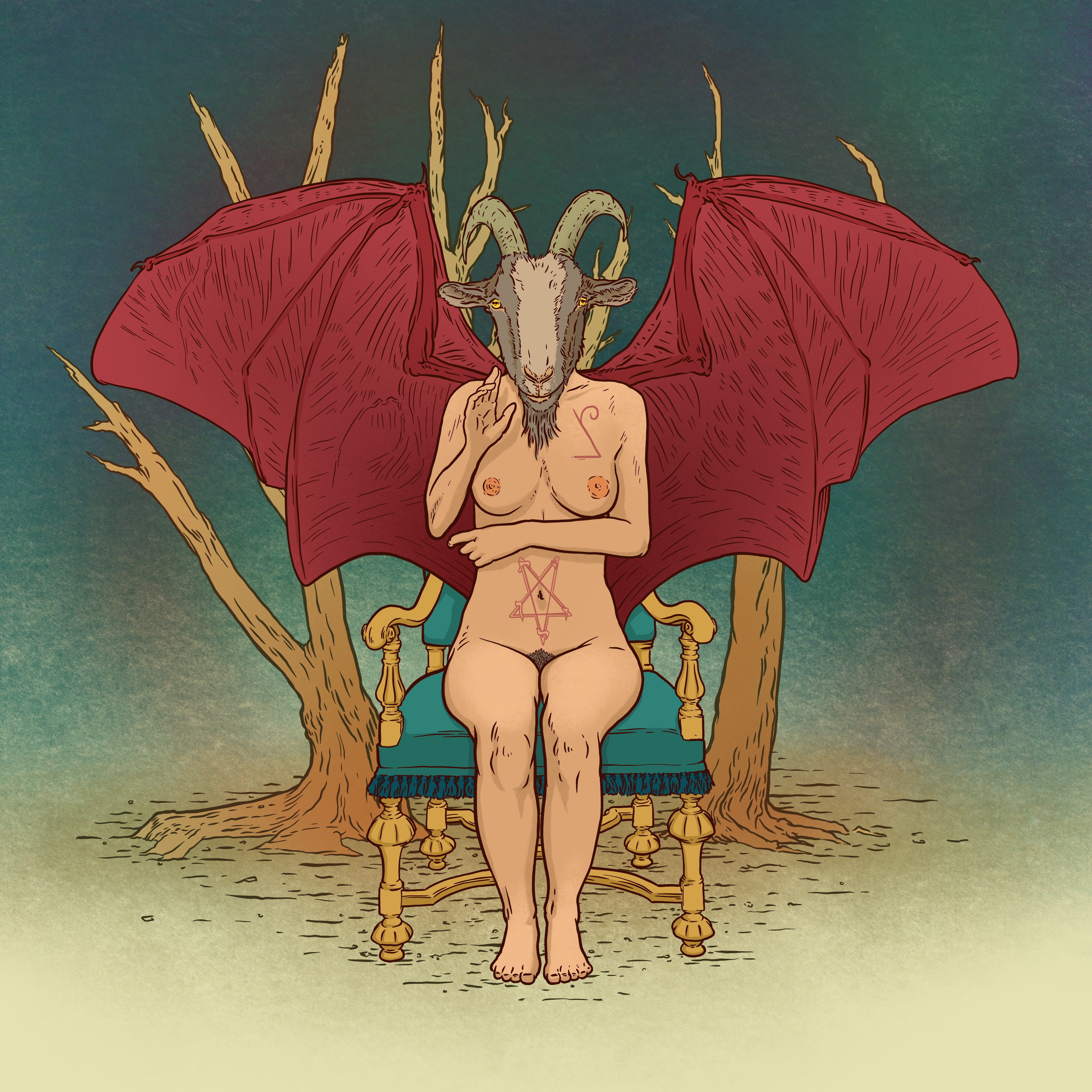 Front Facing Baphomet color