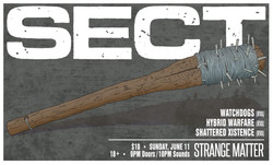 SECT show flier