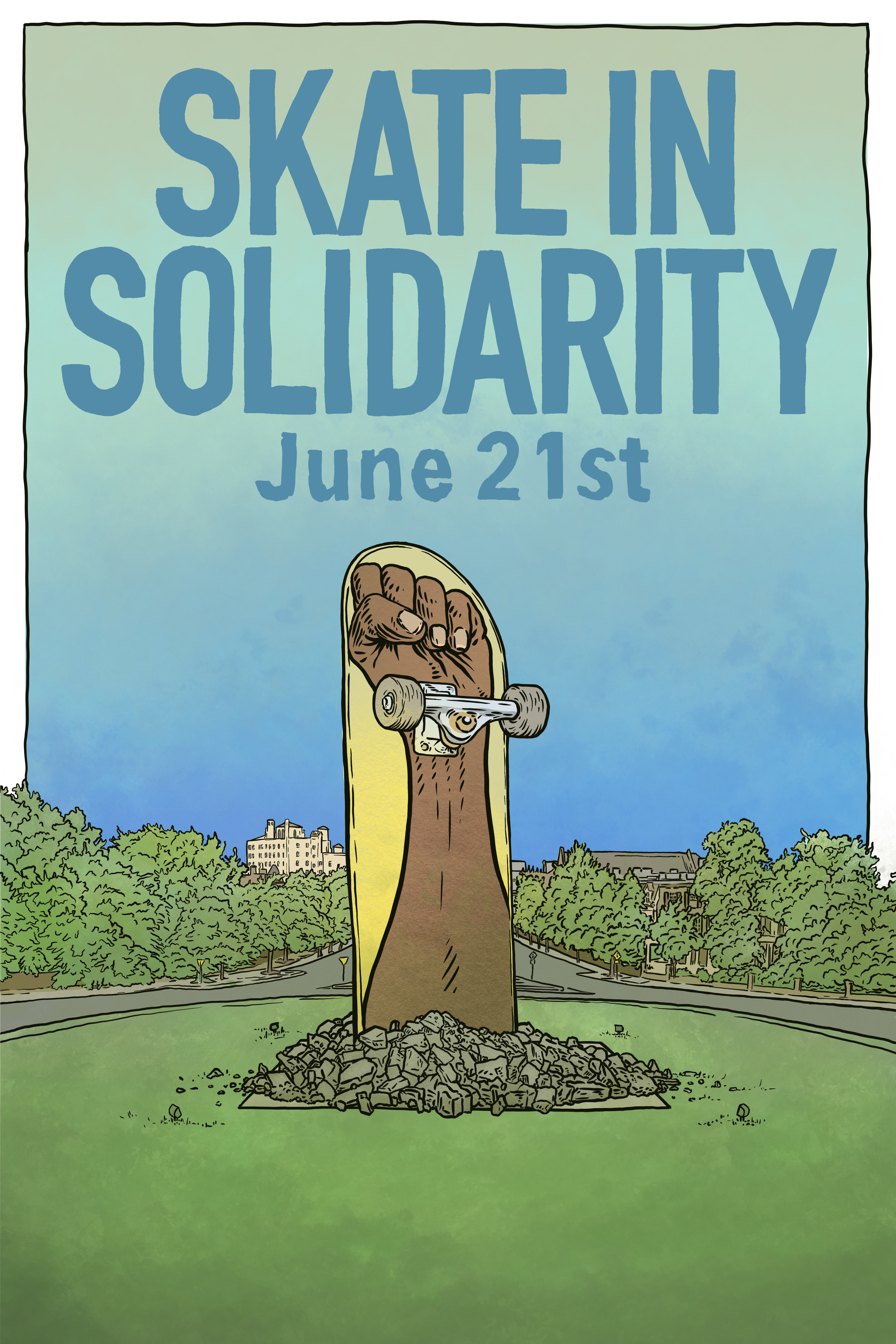 Skate in Solidarity poster