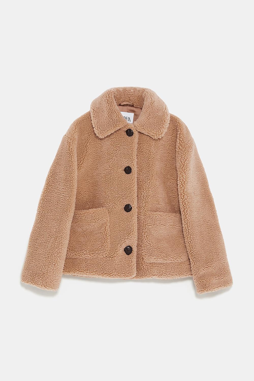 Teddy coat beige
