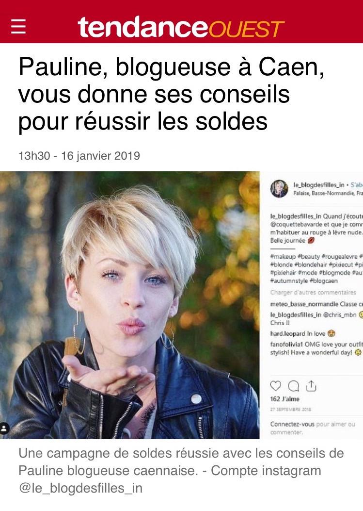 Interview Tendance Ouest : Pauline, blogueuse à Caen, vous donne ses conseils pour réussir les solde