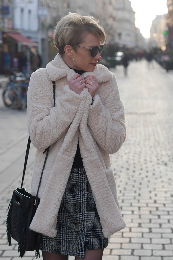 look hiver tendance teddy coat caen normandie blog