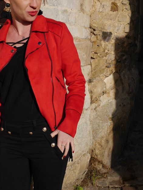Look #13 - Ma petite veste rouge !!