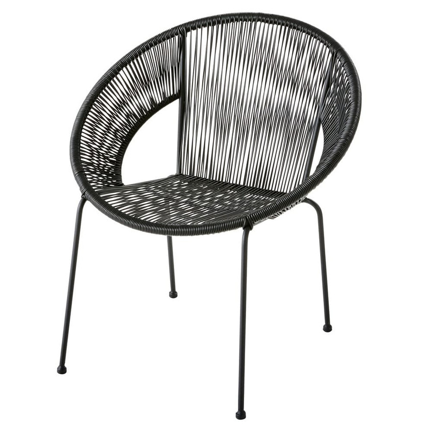 fauteuil-rond-en-fil-de-resine-noir-1000