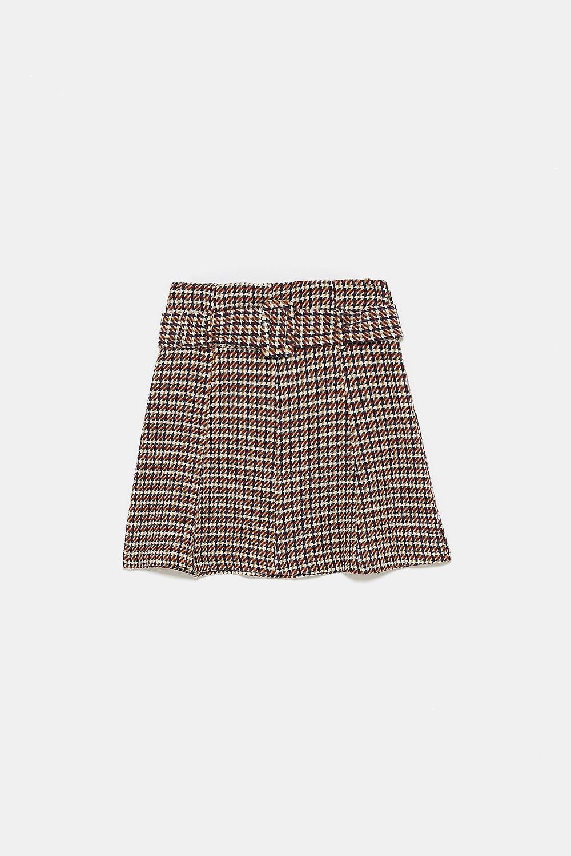 Mini jupe tweed