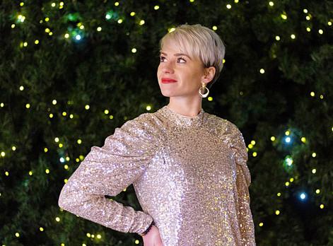 Look #42 - La robe à sequins pour briller pendant les fêtes