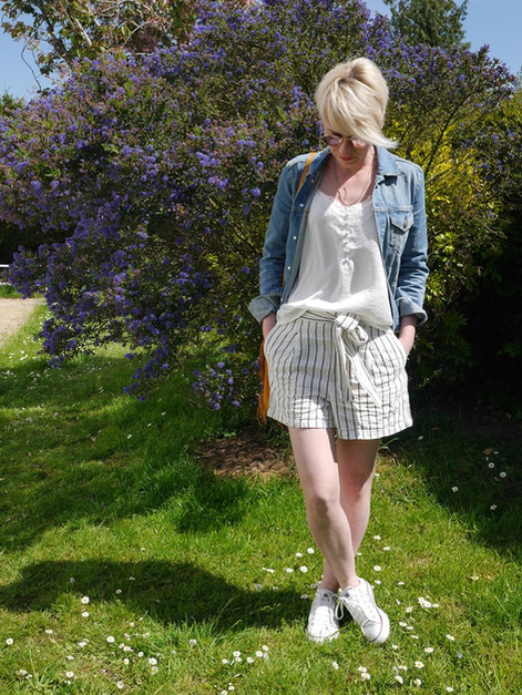 Look #17 - Short en lin X veste jeans