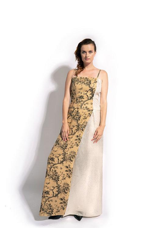 Botanical Summer Evening Dress
