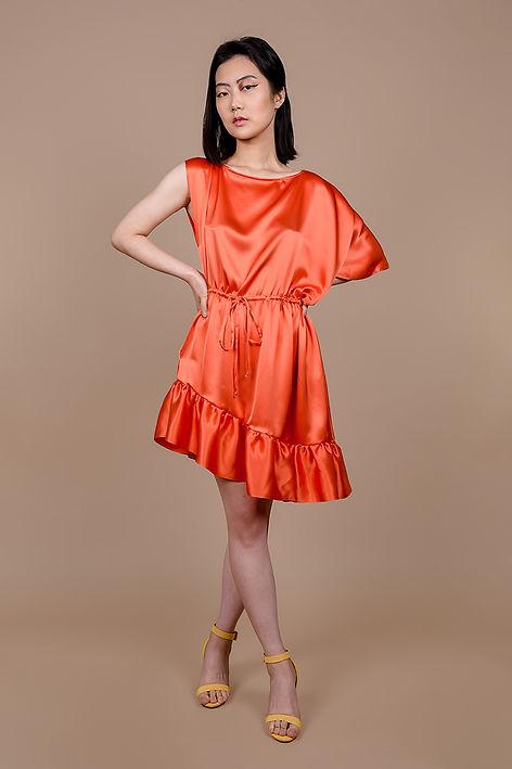 Asymmetrical Silk Ruffle Dress-1.jpg