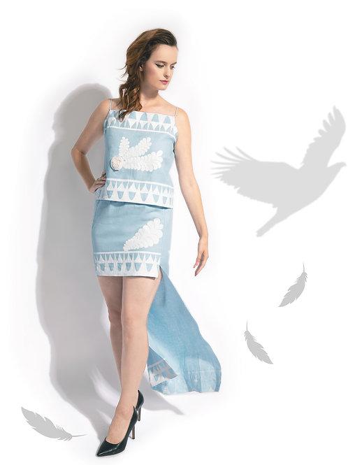 Sky Linen Hyperion Skirt