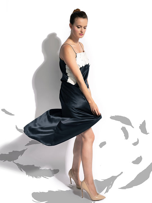 Midnight Silk Iapetus Skirt