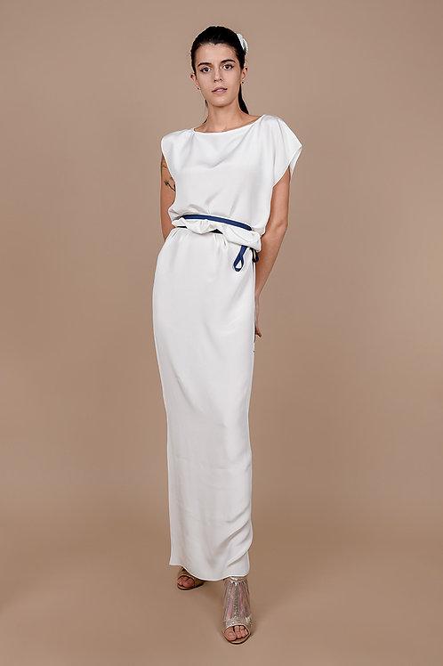 Asymmetrical Silk Crepe Dress