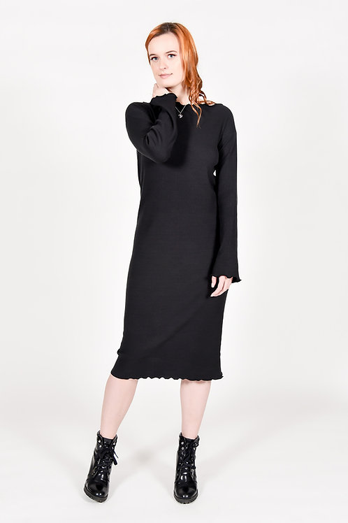 ZW Cotton Rib Knit Dress