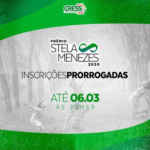 PRORROGADAS PRÊMIO STELA MENEZES 2020
