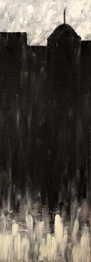 City - 17x48 (wood panel) - $400