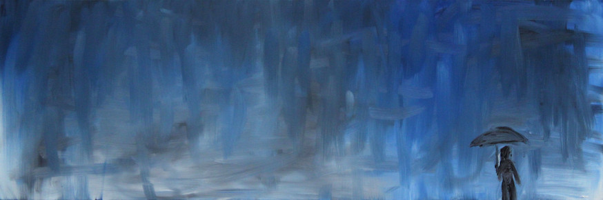 Rainy Day - 30x10 - SOLD