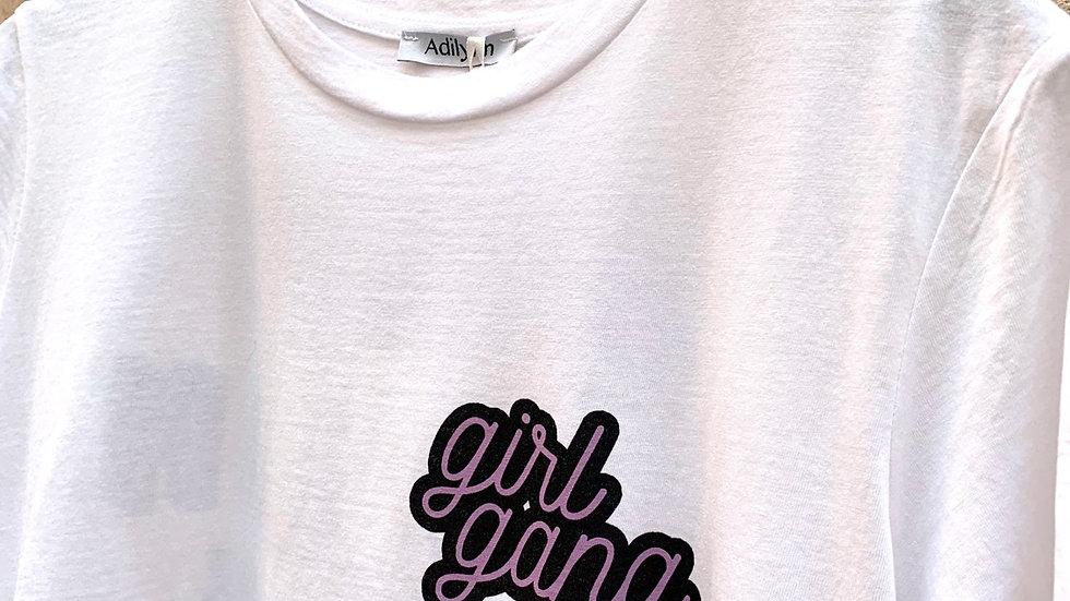 Tee shirt girl gang