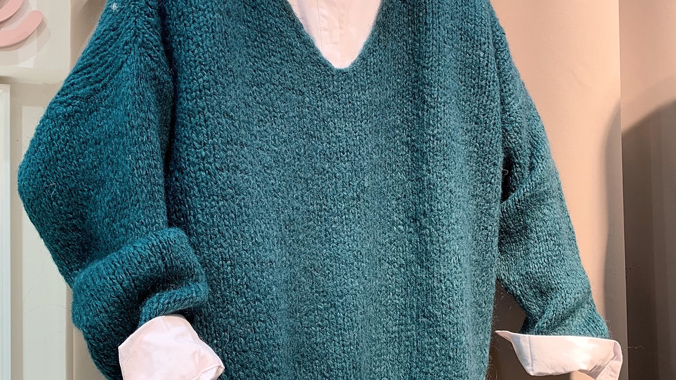 Pull grosse maille canard