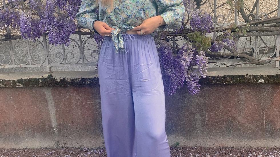 Pantalon fluide lila