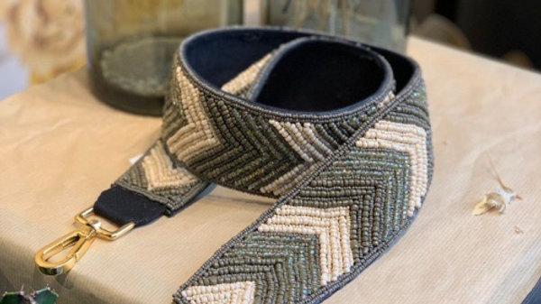 Bandoulière perle kaki