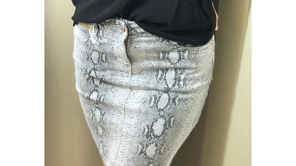 Jupe jeans python