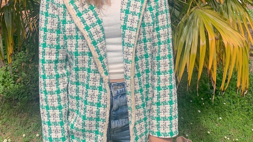 Veste tweed vert