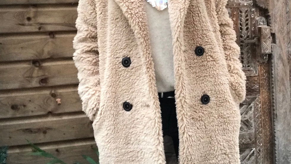 Teddy coat beige