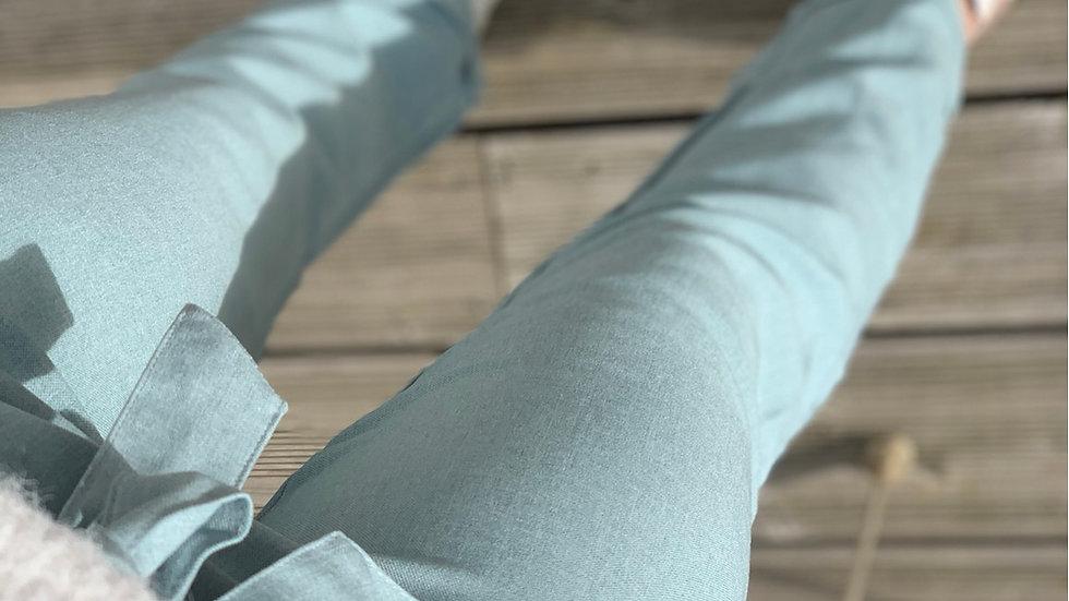 Pantalon bleu pastel
